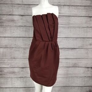 French Connection Cabernet Mini Strapless Dress 6